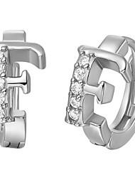 Специальный серебро и золото с покрытием из кубического циркония Буква «F» Женская серьги (больше цветов)