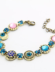 Canlyn Women's Bohemia Colorful Diamond Joint Gem Bracelet