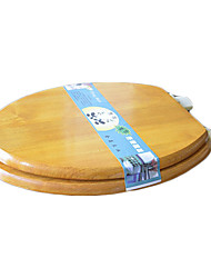 Classic Red Glaze Elongated Solid Wood Toilet Seat