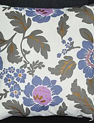 Coussin décoratif Fleurs bleues de modèle avec insert
