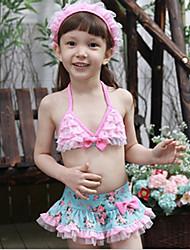 Bowknot Floral Imprimer Maillots de bain pour fille (y compris Bonnet de bain)