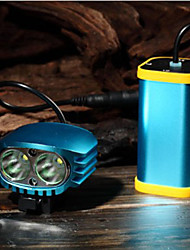FJQXZ Aluminum Alloy Stronglight Night Vision Blue Cycling Headlights