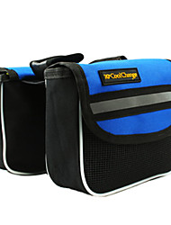 CoolChange Anti-Scraping Polyester Blue Bicycle Front Bag