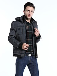 The New Increasing 40% Soybean Fiber Cotton-padded Clothes Men Hooded Men's Clothing