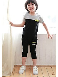 Boy's Cotton Clothing Set Solid