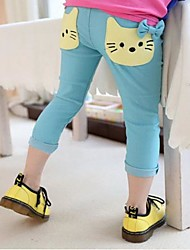 Girl's Cat Cropped Broeken (meer kleuren)