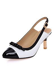 Leder-Frauen Stöckelabsatz Slingback Sandalen Schuhe