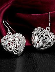 Coeur de haute qualité Forme Boucles d'oreilles pendantes femmes alliage slivery (1 paire)