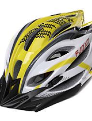 FJQXZ Мужская Открытый PC + EPS 22 Вентс желтый + белый Велоспорт Hlemets