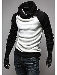 Men's Raglan Sleeve Contrast Color Sweater