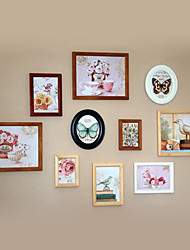 Country Style Photo Wall Frame Collection - Set of 10