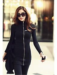 Women's Fashion Slim Black Sweatshirts