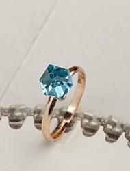 Qianxin Women's Fashion Sapphire Crystal Diamond Ring