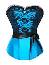 Fashion Satin Kunststoff Entbeinen Korsett Shapewear mit T-Riemen (weitere Farben) reizvolle Wäsche-Former