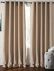 modernes deux panneaux floraux botaniques beige salon rideaux polyester stores opaques