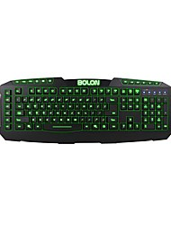 BOLON Dare-u 7 colori LED USB Wired Gaming Keyboard