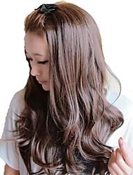 Woman Fashion Capless lange wellenförmige synthetische Perücken Stilvolle Keine Bang 3 Farben erhältlich