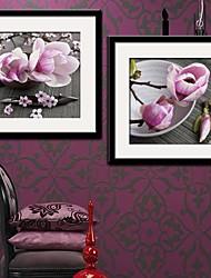 La belle fleur de magnolia Affiche Toile Lot de 2