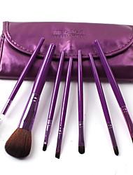 Colors Solid Color Fiber 7 PCS Set Cosmetic Brushes