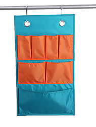 Classic Beautiful Orange and Sky Blue Mixed Household Suspending Storage Bag