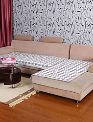Elaine Cotton KF Check Pattern Bordure Gray Sofa Cushion 333713