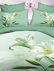 Luolan 3D Print Polyester 4 piezas Set Ropa de cama A49