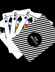 Regalo personalizado Negro y Blanco Modelo rayado Playing Card para Poker