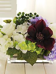 """9 """"h elegante tafelblad boeket bloemen arrangement"""