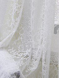 Country One Panel Floral  Botanical White Bedroom Polyester Sheer Curtains Shades