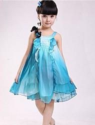 Moda Princesa vestidos de verão bonito Chiffon Vestidos da menina