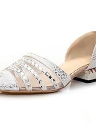 Wolle Frauen Low Heel Sandaletten mit Strass Comfort Schuhe (weitere Farben)