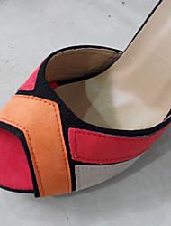 Qidi Damenmode Suede Shoes (Orange)