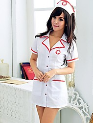 Atractivo de las mujeres de la ropa interior atractiva del corsé de la enfermera Uniforme Establecer Camisón Pijama