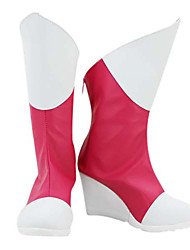 Pokemon Latias Pink & White Sweet PU Leather Cosplay Boots