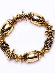 Perlée vintage bracelet en métal