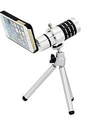 Алюминиевый сплав Набор 16X телефото зум-объектив для Iphone 5 - Серебро