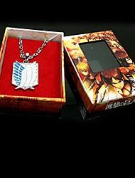 Schmuck Inspiriert von Attack on Titan Eren Jager Anime Cosplay Accessoires Halsketten Gold / Silber Legierung Mann