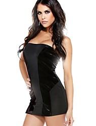 Paneled Strapless Mini Vestido Vogue Mulheres