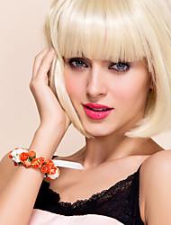 belle blanc avec fleur orange de mariage de papier de fille de fleur / fleur poignet mariée