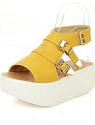 Kunstleder Frauen Platform Heel Sandaletten mit Schnalle Creepers Schuhe (weitere Farben)