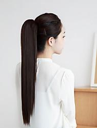 16 Zoll Klaue Clip Frauen-synthetische gerade Pferdeschwanz Haarteil 2 Farben erhältlich