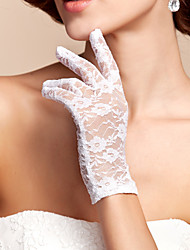 Wrist Length Fingertips Glove Lace Bridal Gloves Spring / Summer / Fall White / Red / Champagne
