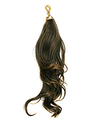 Dark Brown Long Wavy Synthetic Ribbon Tied Ponytail Hair Extensions