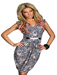 Topro Vestidos Women Sexy Animal Leopard Printed Dress Women'sCasual Dress 9048(screen color)