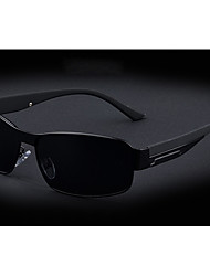 Aulong Men's Polarized Light Black 55 Sunglasses
