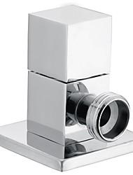 Válvula de ángulo contemporáneo de latón cromado