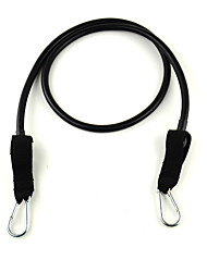 6 # Latex Fitness Trainings Stretch Pull Rope - Schwarz
