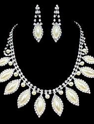 ME Vintage Luxury Austria Rhinestone Set Wedding Necklace And Earings Set T0019
