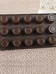 Silicone Color Box Circular Flower Cake Chocolate Mould,21.5x10.8x1.4cm(Random Color)
