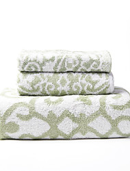3 Pack Bamboo Printed Towel Set, 1pc Bath Towel/Hand Towel/Wash Towel